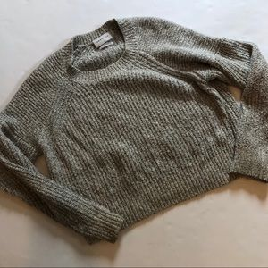 Community knit cropped sweater